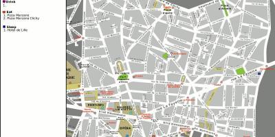 Paris Map Kartor Paris Ile De France Frankrike
